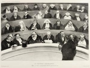 The Ministerial Benches, A Political French Cartoon by Honore Daumier
