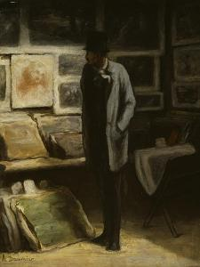 The Print Collector, C.1857-63 by Honore Daumier