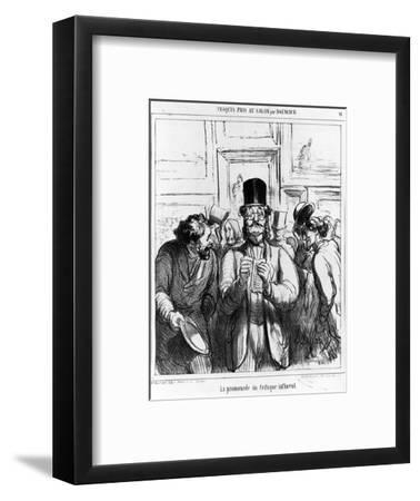 The Promenade of the Influential Critic', Cartoon from 'Charivari' Magazine, 24 June, 1865 (Litho)