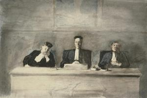 The Three Judges, 1858-60 by Honore Daumier