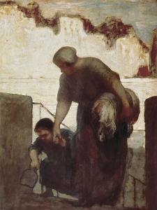 The Washerwoman (La Blanchisseuse) by Honore Daumier
