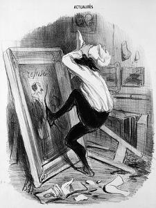 'Ungrateful Country, You Shall Not Have My Masterpiece', 1840 (Litho) by Honore Daumier