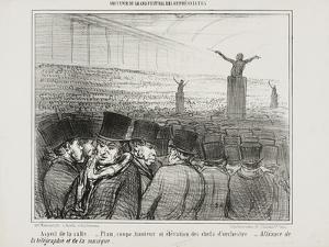 View of the Grand Hall, Plate 1 from Souvenir Du Grand Festival Des Orphéonistes, 1859 by Honore Daumier