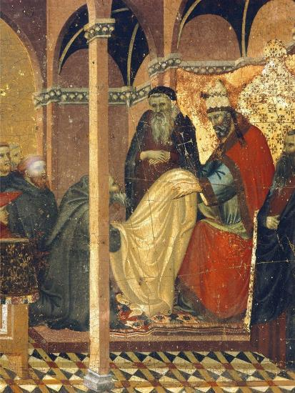 Honorius IV Gives New Clothes to Friars of Carmine--Giclee Print