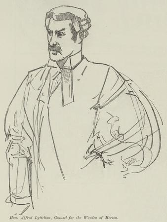 Honourable Alfred Lyttelton, Counsel for the Warden of Merton--Giclee Print