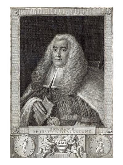 Honourable Mr Justice Blackstone, engraved by Hall-Thomas Gainsborough-Giclee Print
