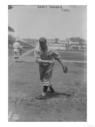 Honus Wagner Pittsburgh Pirates Baseball Photograph - Pittsburgh, PA-Lantern Press-Art Print