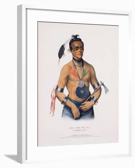 Hoo-Wan-Ne-Ka, Illustration from 'The Indian Tribes of North America'-Charles Bird King-Framed Giclee Print