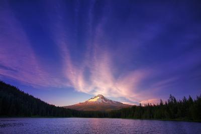 Hood Light, Magic Mood at Mount Hood, Trillium Lake, Oregon Portland-Vincent James-Photographic Print