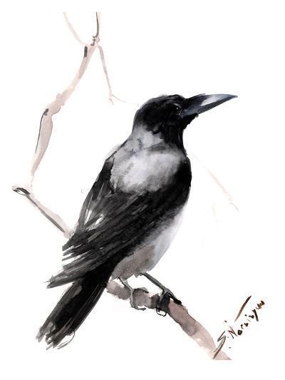 Hooded Crow 2-Suren Nersisyan-Art Print