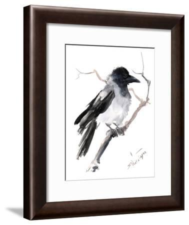 Hooded Crow-Suren Nersisyan-Framed Art Print
