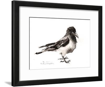 Hooded Crow-Suren Nersisyan-Framed Art Print