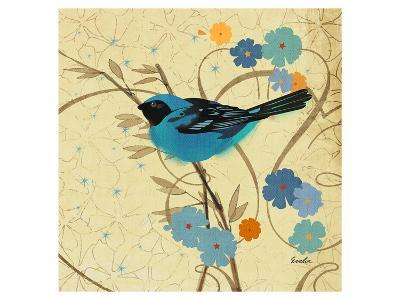 Hooded Oriole Blue--Art Print
