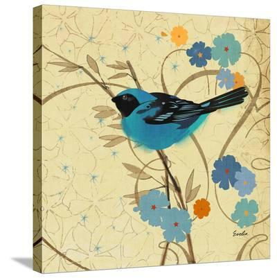 Hooded Oriole Blue--Stretched Canvas Print