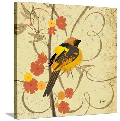 Hooded Oriole--Stretched Canvas Print