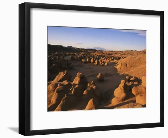 Hoodoos Cover the Landscape of Goblin Valley State Park, Utah-Michael S. Lewis-Framed Photographic Print
