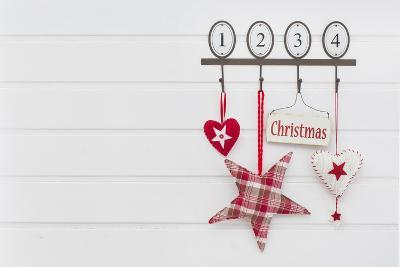 Hook Rail with Christmas Decoration-Andrea Haase-Photographic Print
