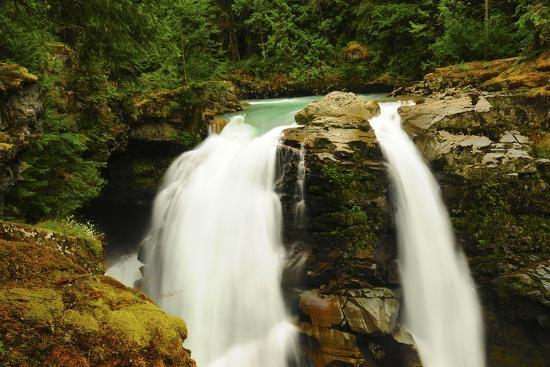 Hooksack Waterfalls, Mount Baker-Snoqualmie National Forest, Washington, USA-Michel Hersen-Photographic Print