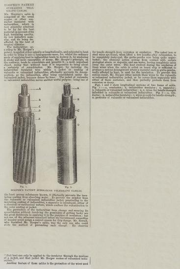 Hooper's Patent Submarine Telegraph Cables--Giclee Print