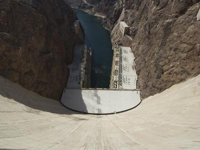 Hoover Dam on the Colorado River Forming the Border Between Arizona and Nevada, USA-Robert Harding-Photographic Print