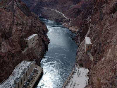 Hoover Dam's Power Substations Along the Colorado River-Stacy Gold-Photographic Print