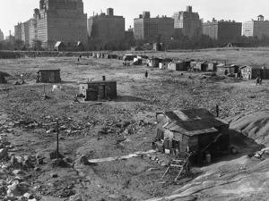 Hooverville in Central Park 1933