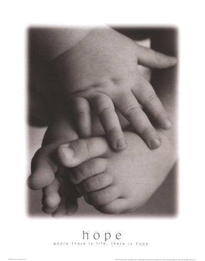 Hope: Baby Hands and Feet-Laura Monahan-Art Print