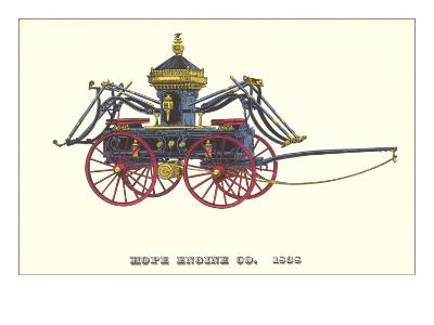 Hope Engine Vintage Fire Wagon--Art Print