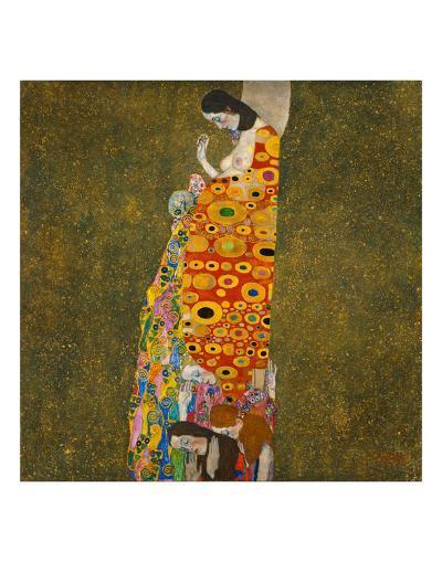 Hope II-Gustav Klimt-Art Print