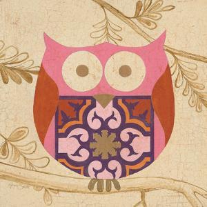 Pink Boho Owl by Hope Smith