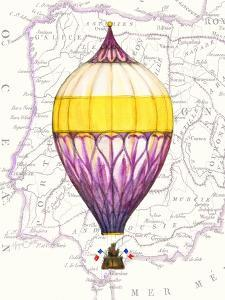 Vintage Purple Air Balloon by Hope Smith