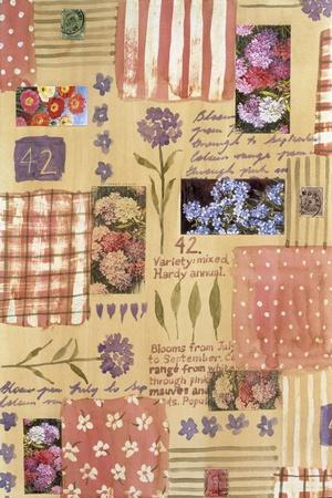 Collage of Flowers and Scraps of Material