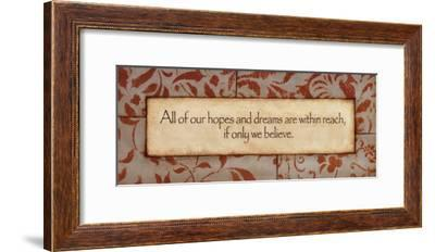 Hopes And Dreams-Stephanie Marrott-Framed Art Print