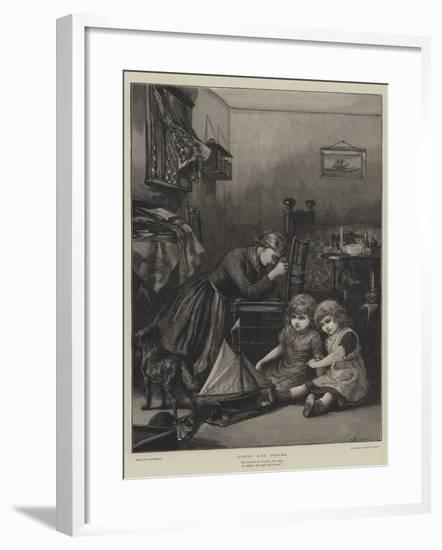 Hopes and Fears-William Heysham Overend-Framed Giclee Print
