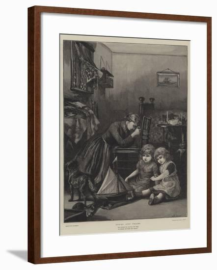 Hopes and Fears-William Heysham Overend-Framed Giclee Print