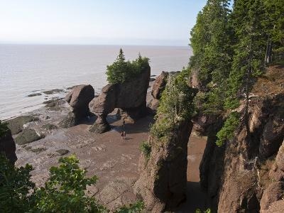Hopewell Rocks and the Ocean Tidal Exploration Site, New Brunswick, Canada, North America-Michael DeFreitas-Photographic Print