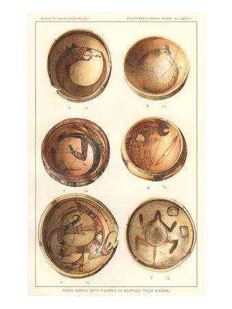 Hopi Polychrome Bowls from Sikyatki--Art Print
