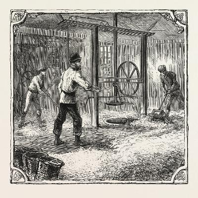 Hops and Hop Pickers--Giclee Print