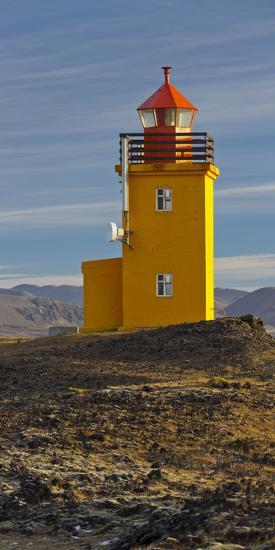 Hopsneses Lighthouse, Reykjanes (Headland), Iceland-Rainer Mirau-Photographic Print