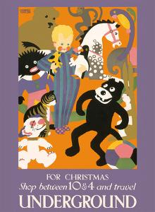 For Christmas Shop between 10 & 4 and Travel Underground - London Underground by Horace Taylor
