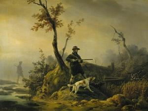 Chasse au canard by Horace Vernet