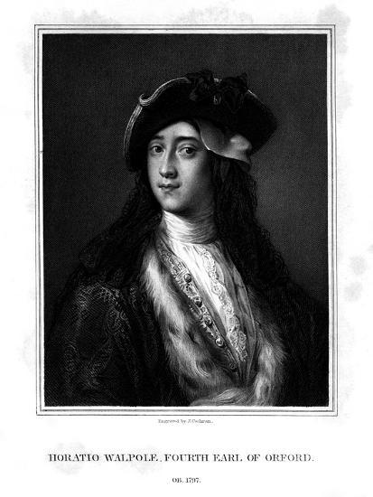 Horace Walpole, 4th Earl of Orford, Politician, Writer, Architectural Innovator-J Cochran-Giclee Print
