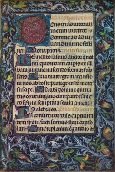 Horae Beatae Virginis Mariae, (Fifteenth Century), 1903-Unknown-Giclee Print