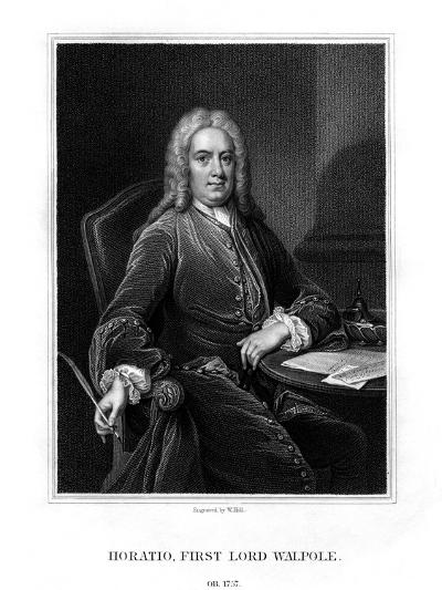 Horatio Walpole, 1st Baron Walpole of Wolterton, English Diplomat and Politician-W Holl-Giclee Print