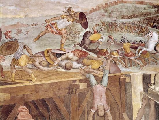 Horatius Cocles on the Sublician Bridge-Tommaso Laureti-Giclee Print