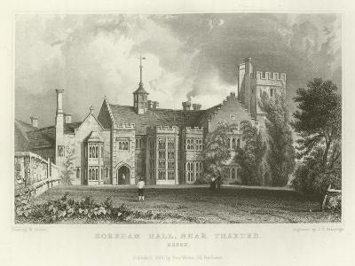 Horeham Hall, Near Thaxted, Essex-William Henry Bartlett-Giclee Print