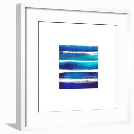 Horizintal Blues-Evangeline Taylor-Framed Art Print
