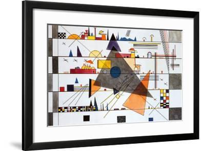 Horizonale, c.1924-Wassily Kandinsky-Framed Art Print