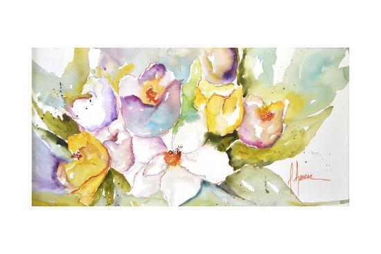Horizontal Flores IV-Leticia Herrera-Premium Giclee Print
