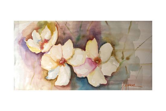 Horizontal Flores VII-Leticia Herrera-Premium Giclee Print